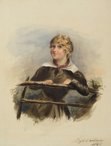 Portrait of a girl by Miss C Sherley